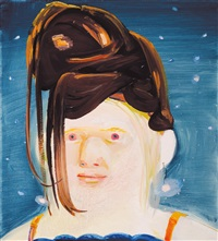 albino with wig by dana schutz