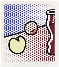 still life with red jar by roy lichtenstein