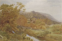 bredwardine bridge on the wye, hereford by alfred robert quinton