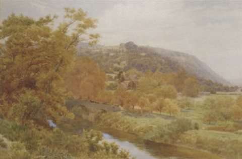 bredwardine bridge on the wye hereford by alfred robert quinton