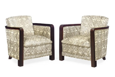 pair of armchairs by eric bagge