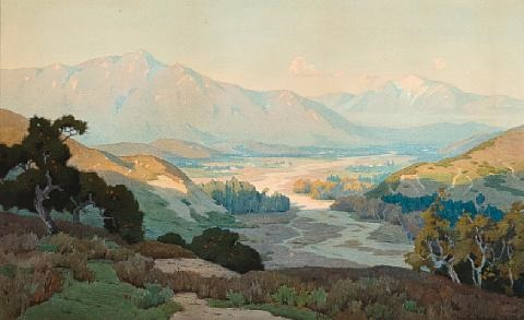 view of palm springs from hidden canyon by marion kavanaugh wachtel