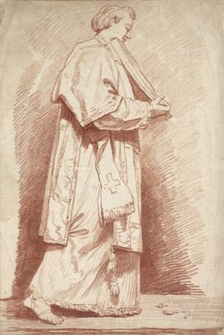 jeune prêtre portant les evangiles by jean honoré fragonard
