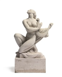 figure with a lyre by wheeler williams