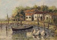 casolari in riva al lago by ciro agnetti