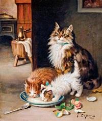 macska a kölykeivel by jules gustave leroy