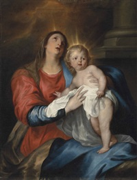 the virgin and child by sir anthony van dyck