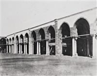 el cairo, mezquita de amrou, interior, lado del santuario, 1850-1851 by félix teynard