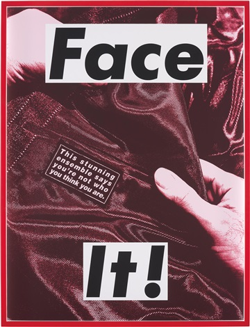 face it red by barbara kruger