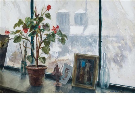 a window in paris and family at the beach a double sided work by john whorf