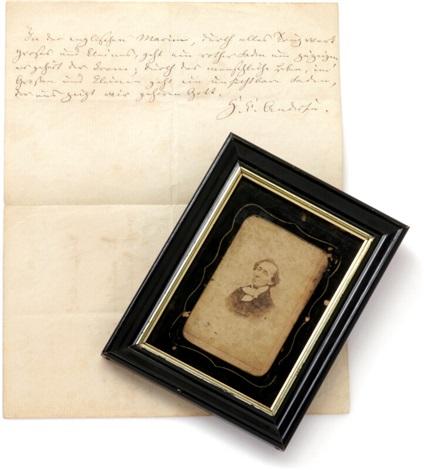 Autograph Note And Quotation Signed Enclosed Orig Carte De Visite Photograph