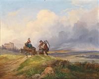 am heimweg von der feldarbeit by joseph altenkopf