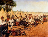 french military encampment by pierre petit-gérard