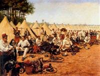 french military encampment by pierre petit-gérard
