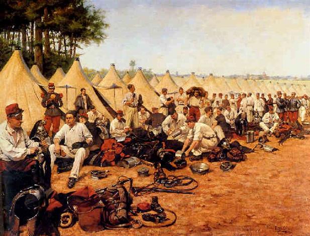 french military encampment by pierre petit gérard