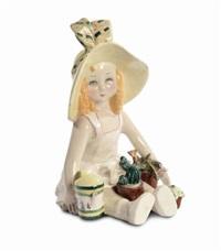 bambola con piante e inaffiatoio by sandro vacchetti