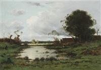 paysage champêtre by louis le poitevin