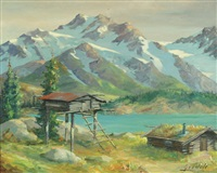 alaskan cache-summer by harvey goodale