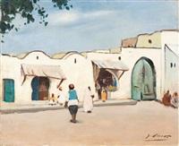 petites échoppes, ville de tunisie by gustave lino