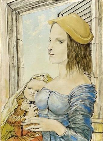 mère et enfant by léonard tsuguharu foujita