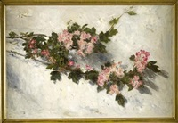 a still life of wild roses by george reid