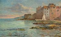 port méditerranéen (cassis ou saint-tropez) by adolf karol sandoz