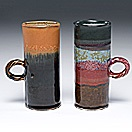 tall mugs (pair) by adrian saxe