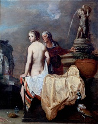 el baño de betsabé by dirck van der lisse