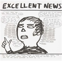 untitled (excellent news) by david shrigley