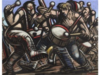 drummers by peter howson