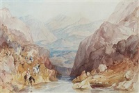 pass in the balkan mountains on the bulgarian side by thomas allom