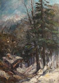 peisaj de iarnă by iosif rosenbluth