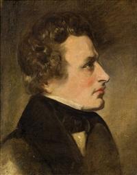 herrenporträt im profil by friedrich von amerling