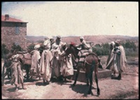 algérie: scène autour d'un puit by jules gervais courtellement