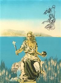 visions surréaliste (portfolio of 4 prints) by salvador dalí