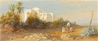 moorish house at beer-seeman, near algiers by charles vacher