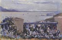 la goulette vue de la terrasse de nejma-ezzahra by baron rodolphe d' erlanger