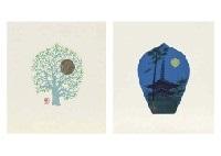 scattered flowers (portfolio of 7) (+ another; 2 portfolios of 7) by tomikichiro tokuriki
