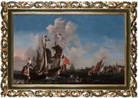 dernier quart du xviième siècle la flotte hollandaise à l'embouchure de l'escaut, près de vlissingen by pieter coopse