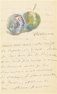 deux reines-claudes (lettre à un ami) by édouard manet