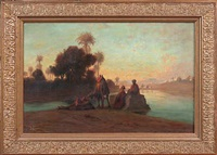 sur les bords du nil by étienne-auguste krier