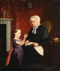 the sewing lesson by john seymour lucas