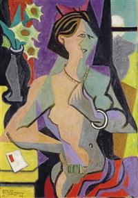 femme nue à la lettre by jean metzinger