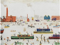 canal boats and factories by simeon stafford