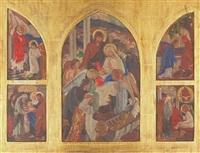 preliminary studies for a triptych in santa sabina dominican sisters, san rafael by e.charlton fortune
