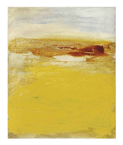 untitled with ochre by bill jensen