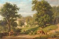 troupeau près de la ferme à fontannière by hélène pourra anselmier