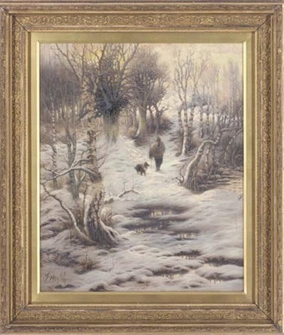 a winters day in the woods by sidney pike