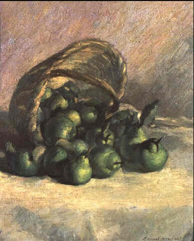 basket of pears by manuel humbert