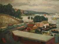 grey day sydney by john terence santry